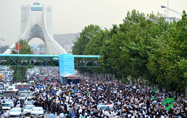 Iranians protesting in the aftermath of the fraudulent 2009 elections.
