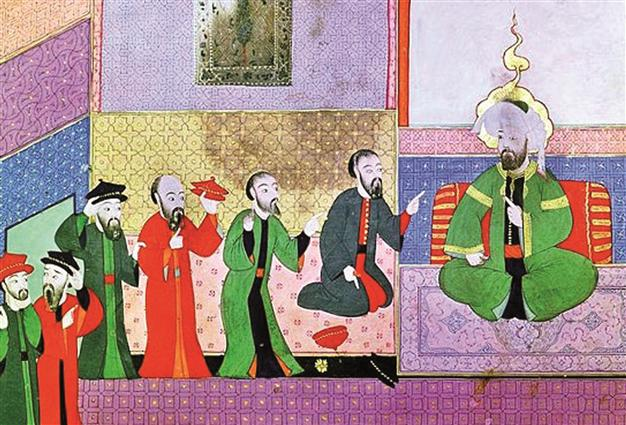 Jewish delegation to an Ottoman sultan.
